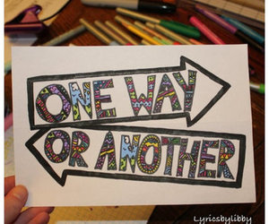 one direction, Lyrics, and one way or another image