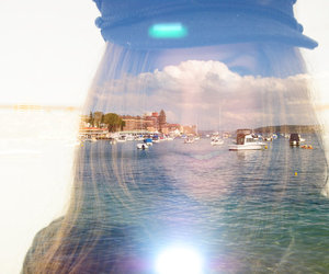 boats, manly wharf, and ocean image