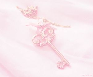 key, cute, and pink image