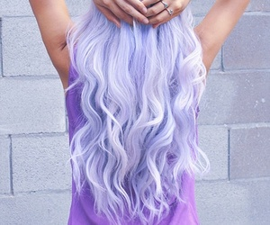 color hair, girl, and hairstyle image