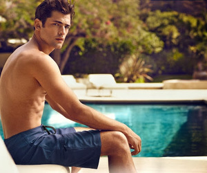H&M, model, and shirtless image
