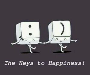 happiness, keys, and joy image