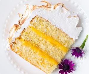 cake, meringue, and orange image