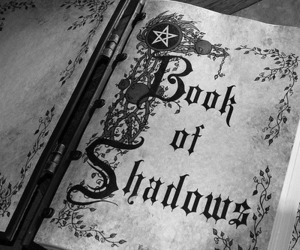 book, shadow, and witch image