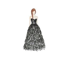 black, black dress, and braid image