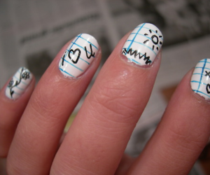 nails, nail art, and Paper image