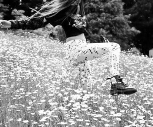 girl, flowers, and free image