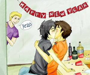 kiss, new year, and percy jackson image