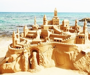 beach and castle image