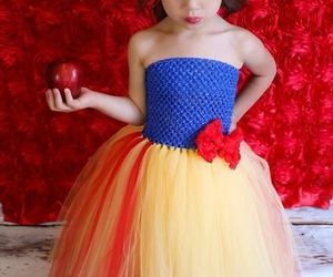 dress, girl, and snow white image