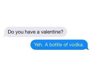 vodka, valentine, and bottle image