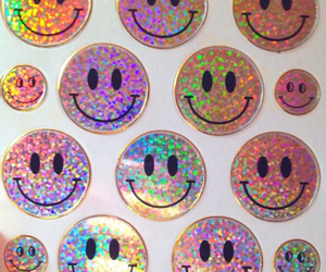 sticker, grunge, and smile image