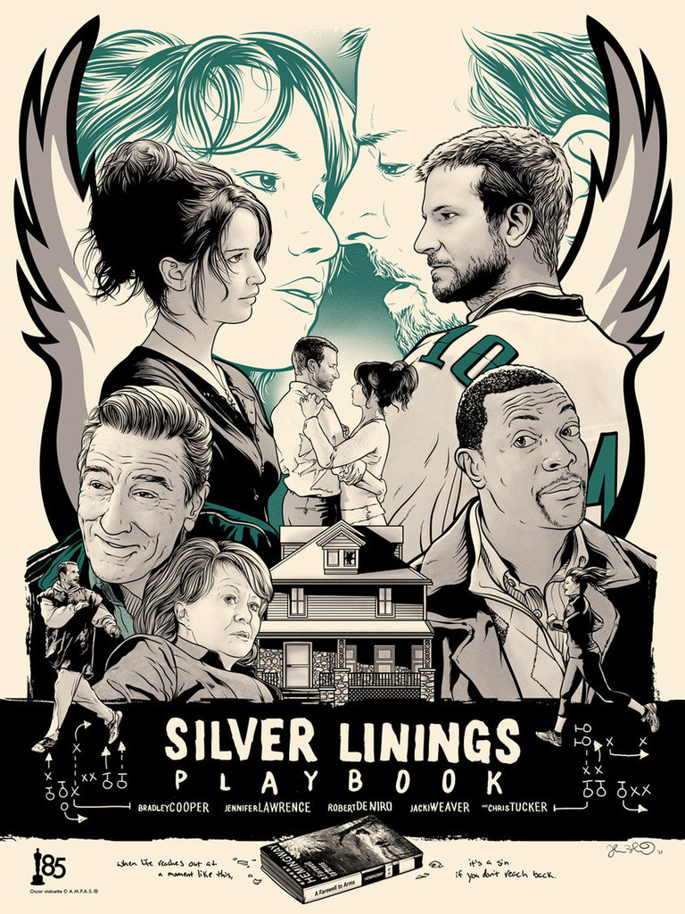 silver linings playbook, bradley cooper, and Jennifer Lawrence image