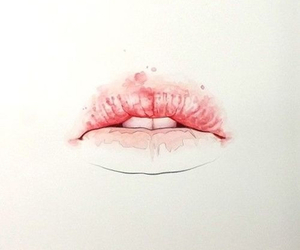 lips, pink, and art image