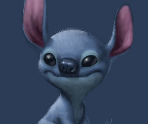cute, stitch, and art image
