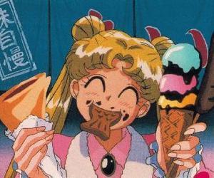 serena tsukino and eat image