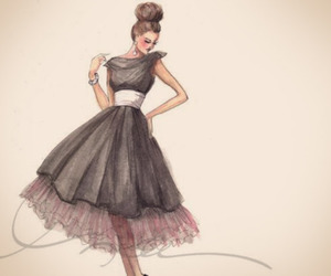 chic, fashion illustration, and draw image
