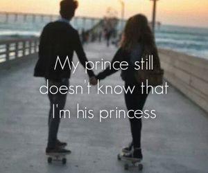 prince, princess, and love image