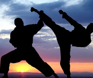 black, karate, and kick image
