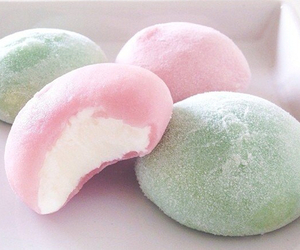 food, mochi, and sweet image