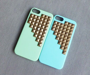 blue, iphone case, and bronze image