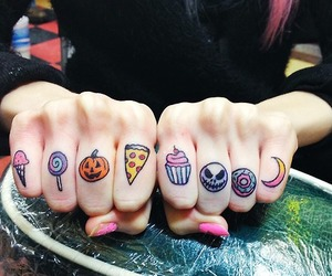 tattoo, pizza, and Halloween image