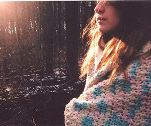 girl, forest, and cold image