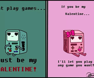 bmo, valentine, and adventure time image