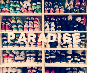 shoes, paradise, and vans image