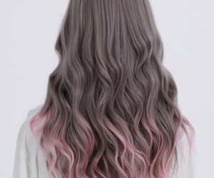 brown, hair, and pink image