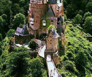 castle, vacation, and forest image