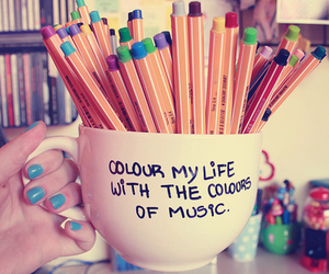 color and music image