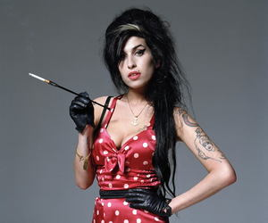 Amy Winehouse and tattoo image