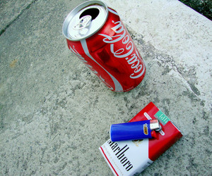 cigar, isqueiro, and coca-cola image