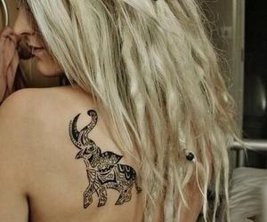 elephant, ink, and placement image