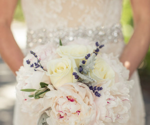 bouquet, bride, and colourful image