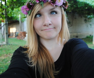 flowers, flower crown, and profile pics image