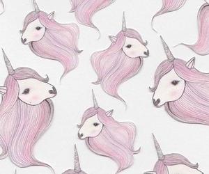 unicorn, pink, and background image