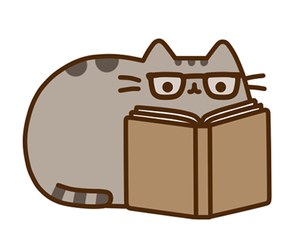 book, pusheen, and cat image