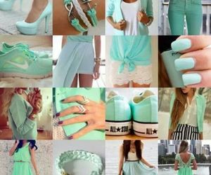 accessories, dress, and sneakers image