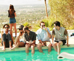 pool, friends, and summer image