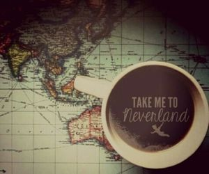 coffee, edit, and neverland image