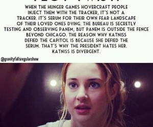 divergent, the hunger games, and plot twist image