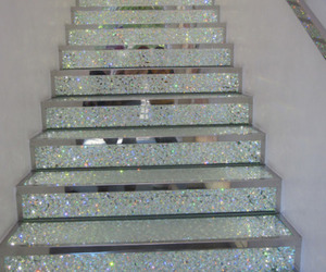 pretty, sparkly, and stairs image