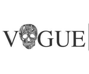 vogue and skull image