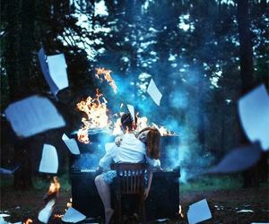 piano, fire, and photography image
