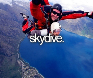 skydive, bucket list, and before i die image