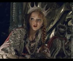 crown, Lily Cole, and mirrow image