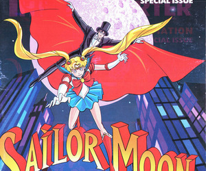 magazine, sailor moon, and tuxedo mask image
