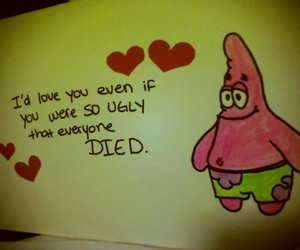 patrick, spongebob, and quote image